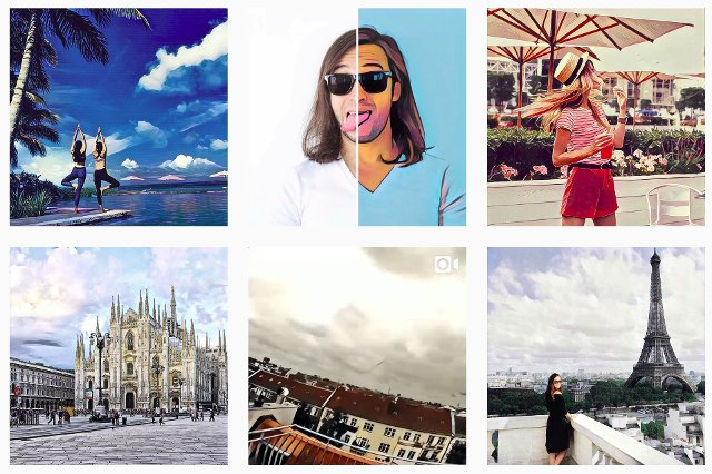 filtros de fotos para instagram con prisma