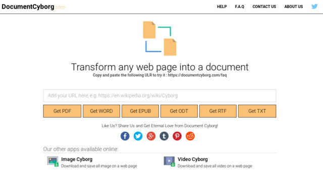 convertir un sitio web en un archivo de texto