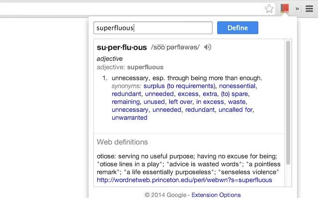 Búsquedas en Google Dictionary