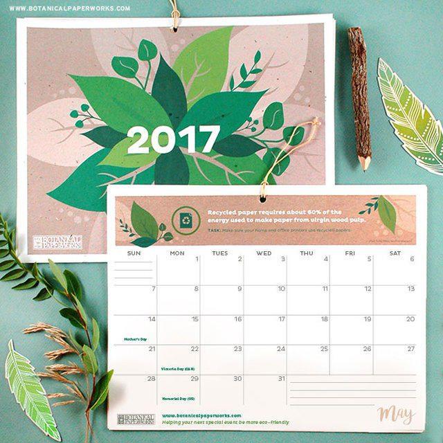Calendario ecologico de 2017