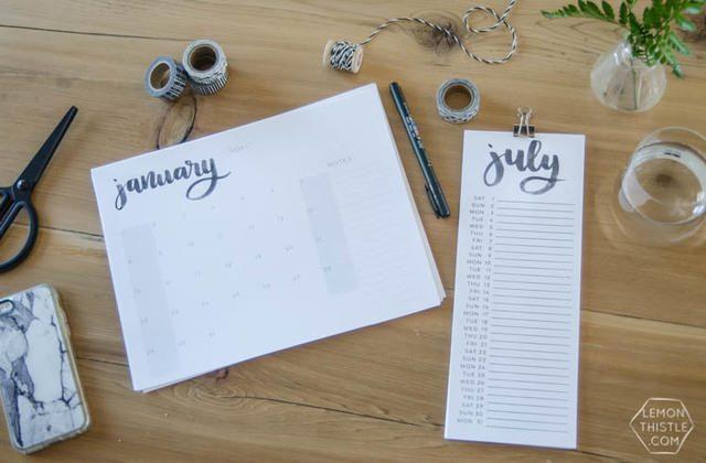 Calendario 2017 en tres estilos