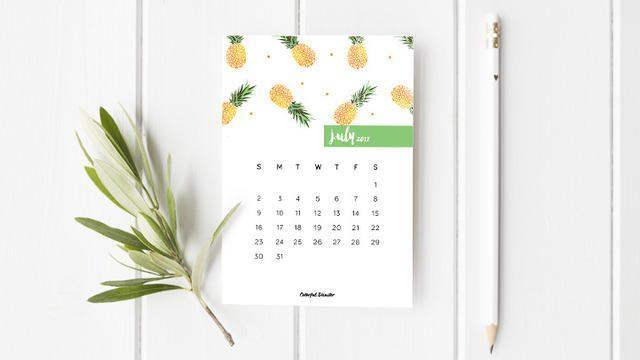 Calendario mensual de 2017