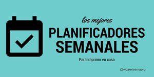 Colección de planificadores semanales 2019