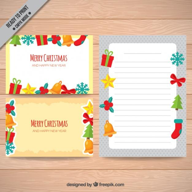 Tarjeta colorida para navidad
