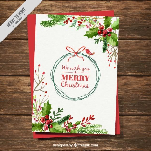 Tarjeta de merry christmas