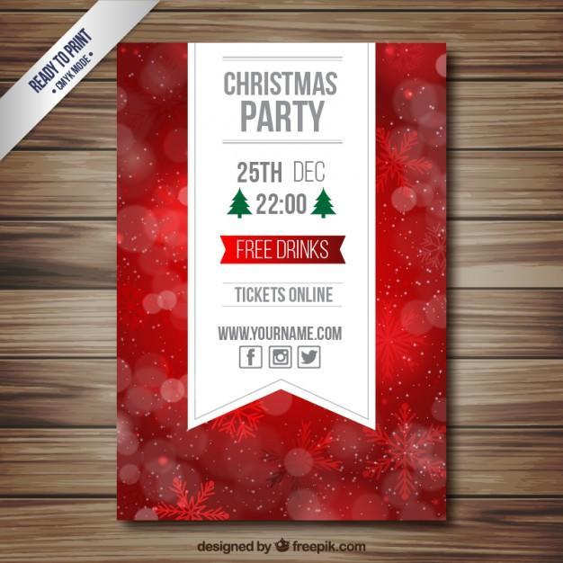 Tarjeta con invitación navideña 2016