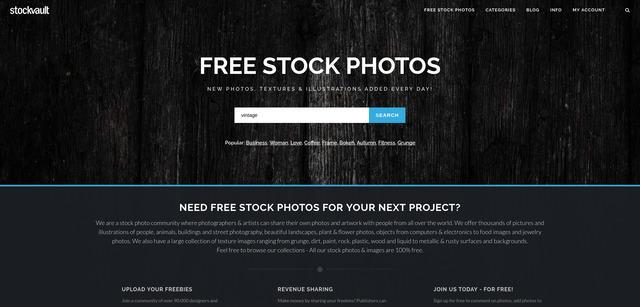 Stockvault banco de imágenes gratis