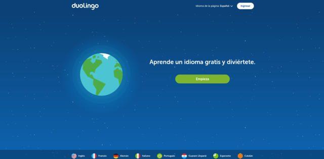Enseñanza virtual de idiomas con Duolingo
