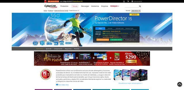 PowerDirector - un programa para hacer videos con fotos y más