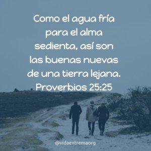 Proverbios 25:25