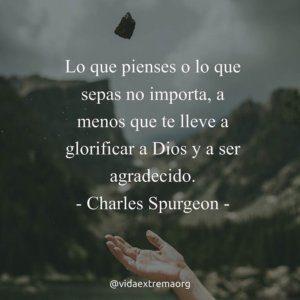 Charles Spurgon sobre el conocimiento