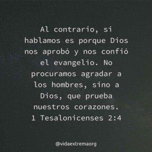 1 Tesalonicenses 2:4