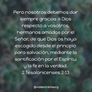 2 Tesalonicenses 2:13
