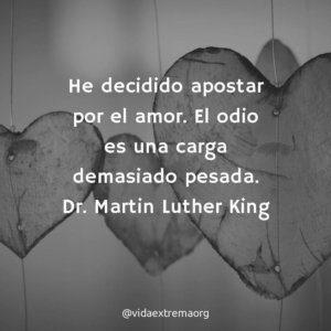 Frase de Martin Lurther King sobre el amor