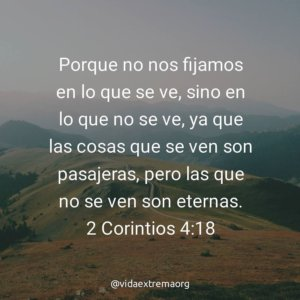2 Corintios 4:18