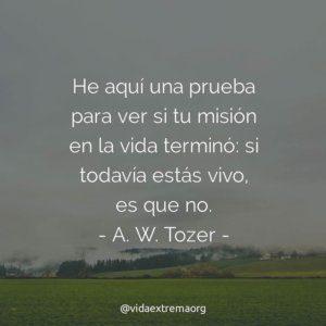 Frase de A. W. Tozer sobre la misión