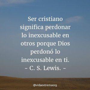 Frase de C. S. Lewis sobre ser cristiano