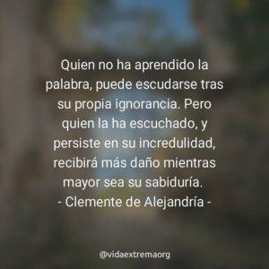 Frase de Clemente de Alejandría sobre la Palabra
