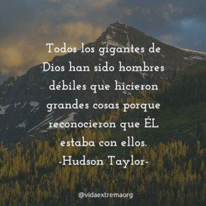 Frase de Hudson Taylor sobre dependencia de Dios