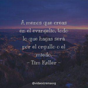 Frase de Tim Keller sobre el evangelio