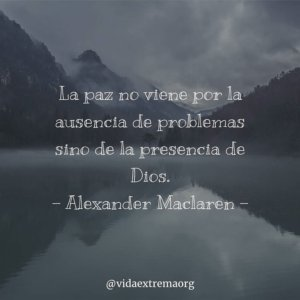 Frase de Alexander MacLaren sobre la paz