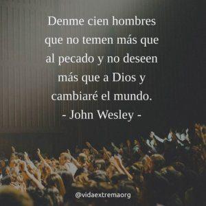 Frase de John Wesley sobre evangelismo