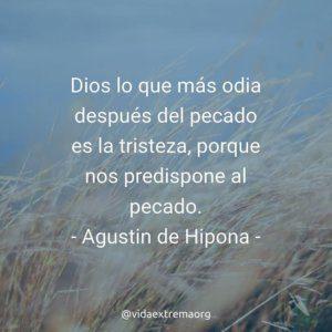 Frase de Agustin de Hipona sobre la tristeza