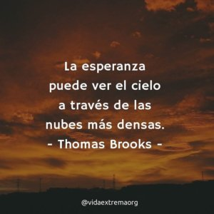 Frase de Thomas Brooks sobre la esperanza celestial