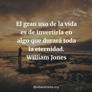 Frase de William Jones sobre la vida cristiana