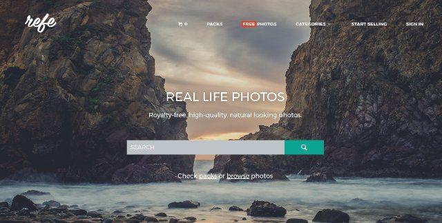 Encuentra fotos de la vida real