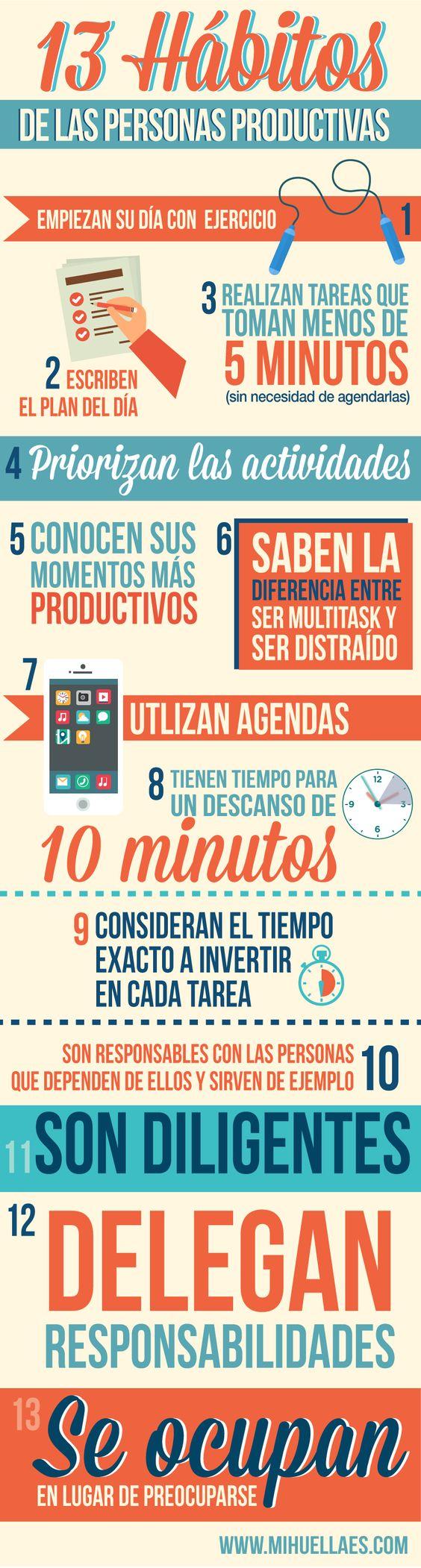 Hábitos de las personas productivas