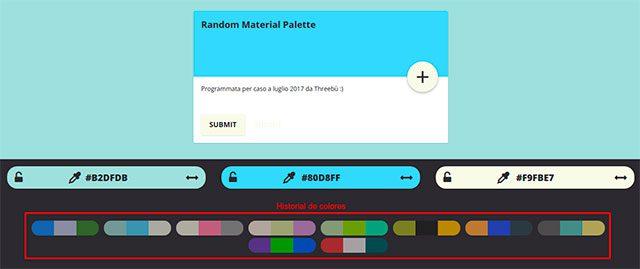 paleta de colores adobe