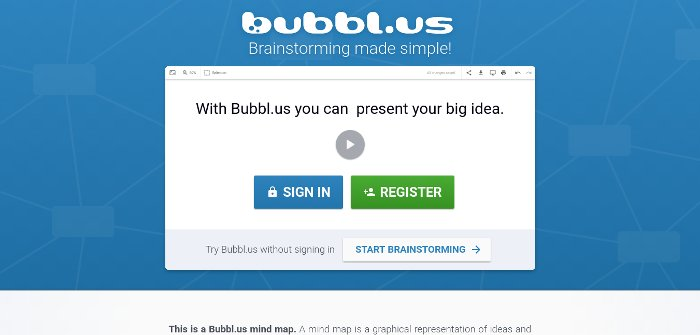 Bubbl.us - Pizarras virtuales